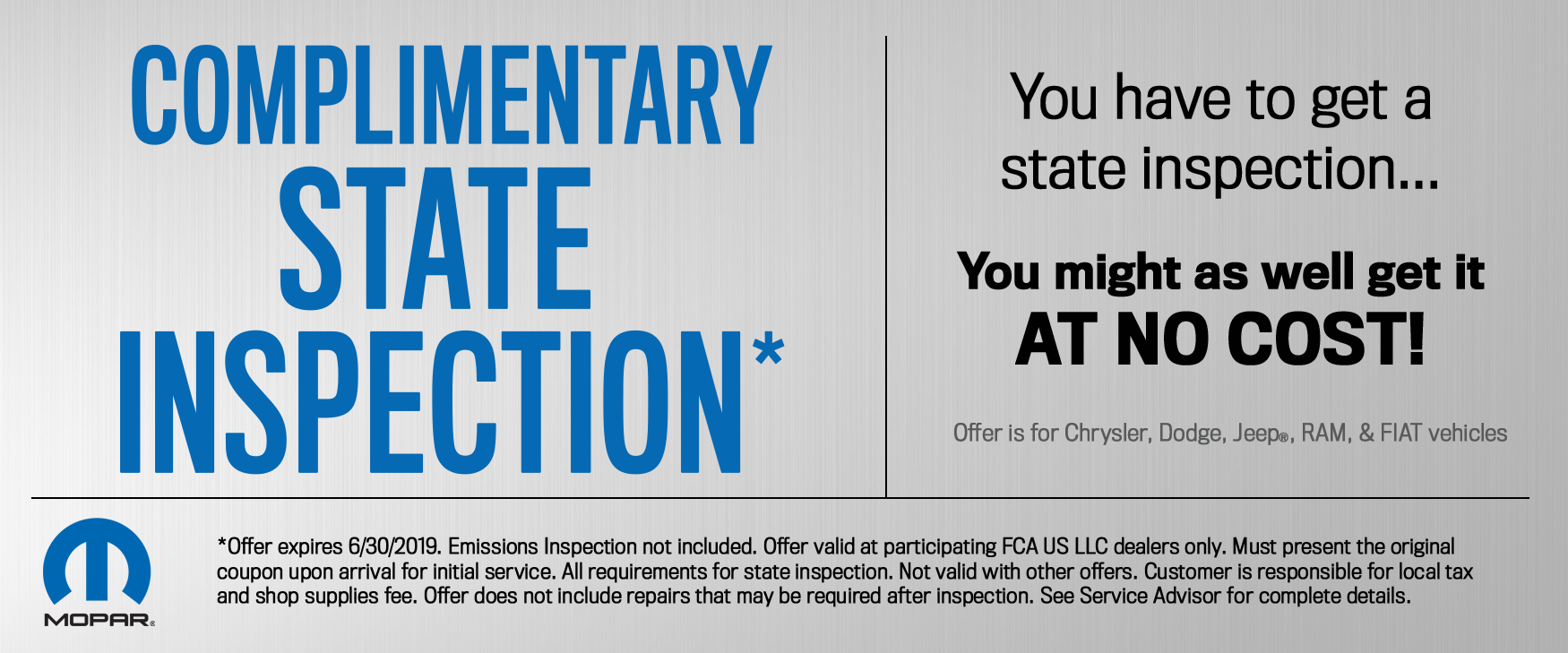 State Inspection Coupon >> Complimentary State Inspection Jim Shorkey Chrysler Dodge Jeep